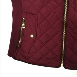 Jackets & Coats - Burgundy Quilted Vest Size Small